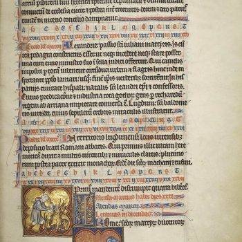 Martyrologe de Saint Germain des Prés. Folio 61