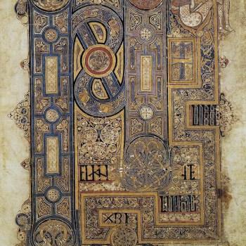 Page d'ouverture de l'évangile de Saint-Marc (folio 130r du livre de Kells).