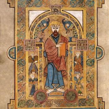 Portrait du Christ (folio 32v du livre de Kells).