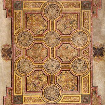 La croix aux huit médaillons (folio 33r du livre de Kells).