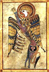 Livre de Kells – Tétramorphe : Le Lion (Saint Marc)