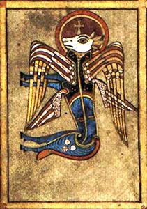 Livre de Kells – Tétramorphe : Le taureau (Saint Luc)