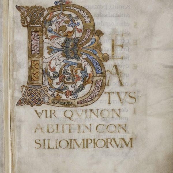 Initiale B - Folio 4r - Psautier d'Oswald