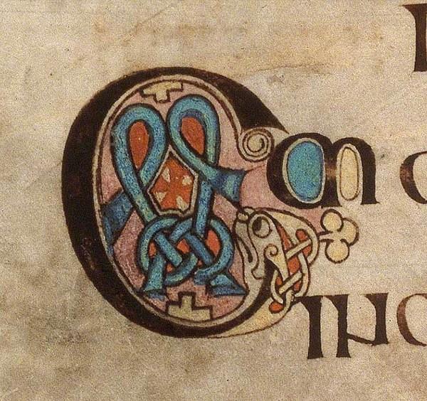 Initiale C du livre de Kells présente au folio 278r.