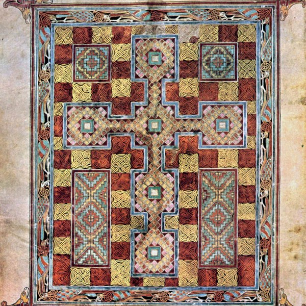 Lindisfarne Folio 2v - Saint Jérome