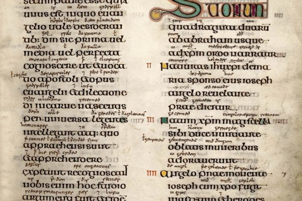 Lindisfarne Folio 19 - Saint Matthieu (introduction)