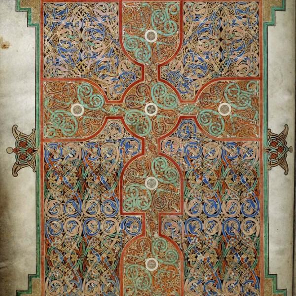 Lindisfarne Folio 26 - Saint Matthieu