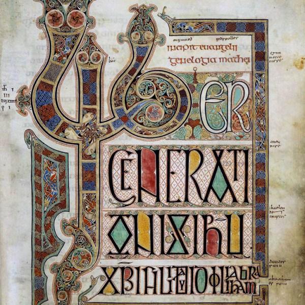 Lindisfarne Folio 27 - Saint Matthieu