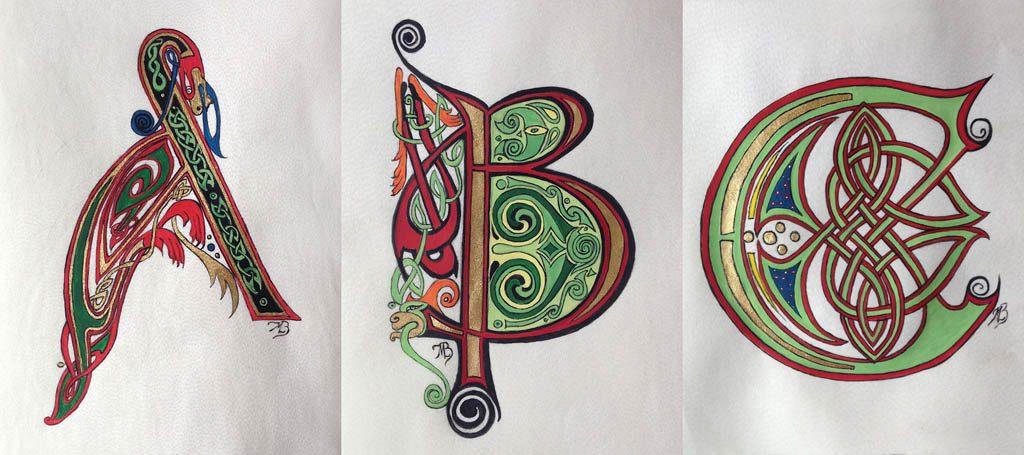 Initiales celtiques A B C