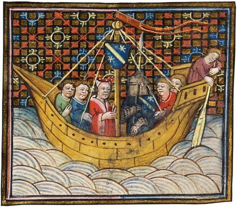 Miniature représentant un navire