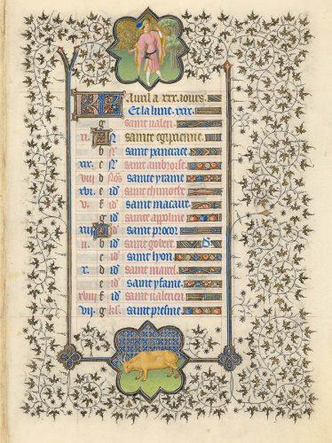 Belles heures du Duc de Berry - Folio 5r