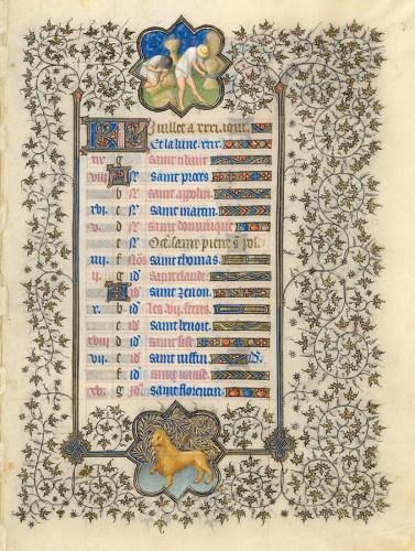 Belles heures du Duc de Berry - Folio 8r