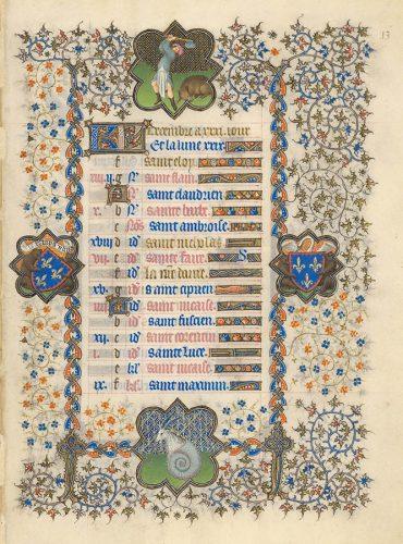 Belles heures du Duc de Berry - Folio13r