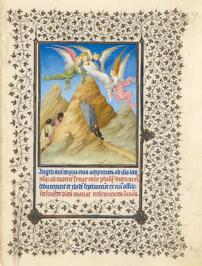 Belles heures du Duc de Berry - Sainte Catherine - Folio 20r