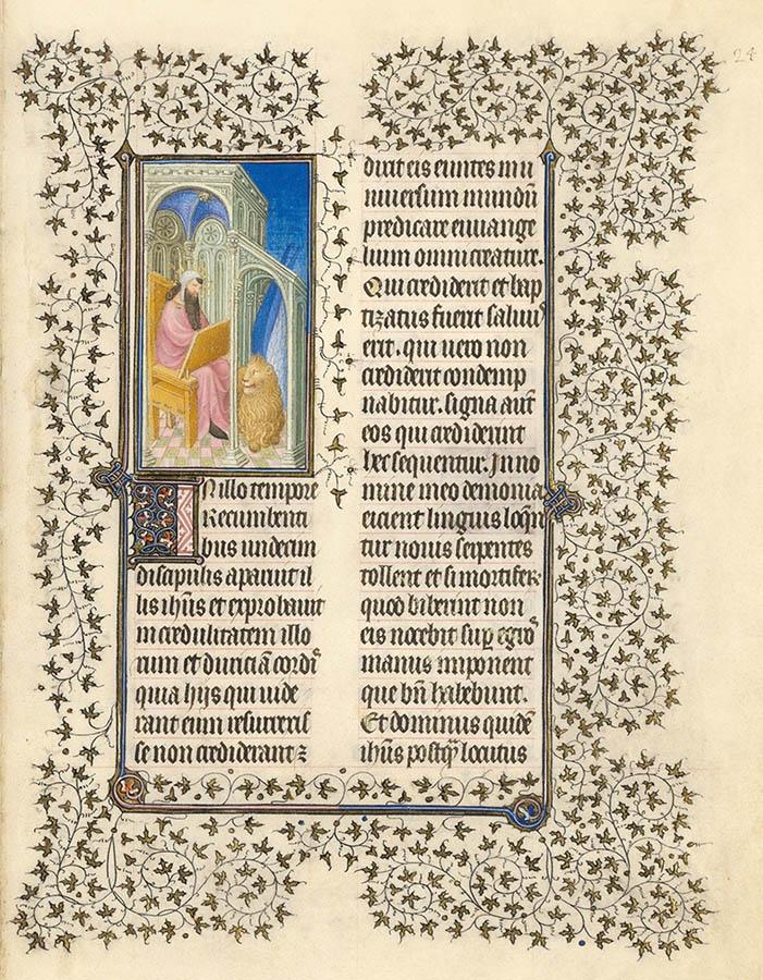 Belles heures du Duc de Berry - évangiles - Folio 24r