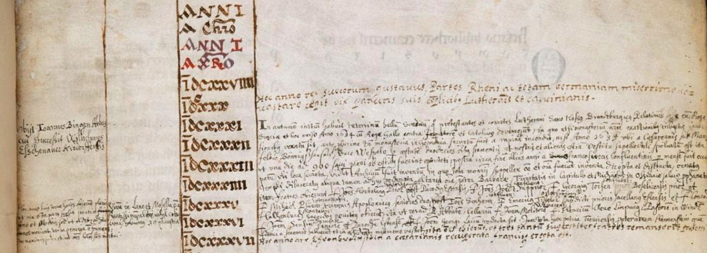 Bible d'Arnstein - Folio 1r - Annales