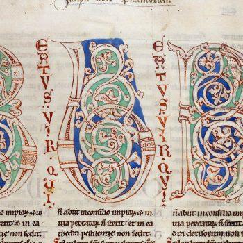Bible d'Arnstein - Folio 5r - Initiales B (Beatus vir qui)