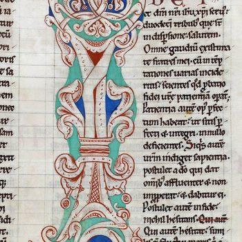 Bible d'Arnstein - Folio 206r - Initiale I
