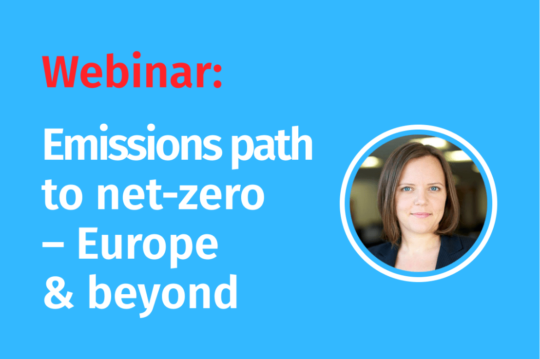 LIVE Webinar – Emissions path to net–zero – Europe and beyond