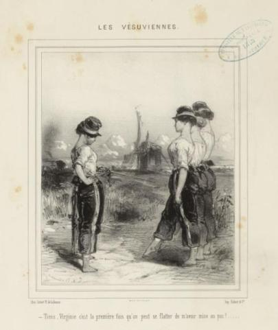 """Image de """"Vésuviennes"""" de 1848 - Beaumont, Charles Edouard de (Lannion, 1812 - Paris, 12–01–1888), dessinateur-lithographe"""