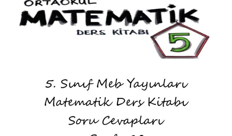5. Sınıf Meb Yayınları Matematik Ders Kitabı Cevapları Sayfa 82