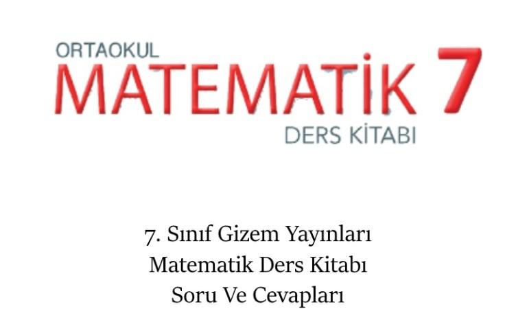 7. Sınıf Gizem Yayınları Matematik Ders Kitabı Soru Ve Cevapları Sayfa 52