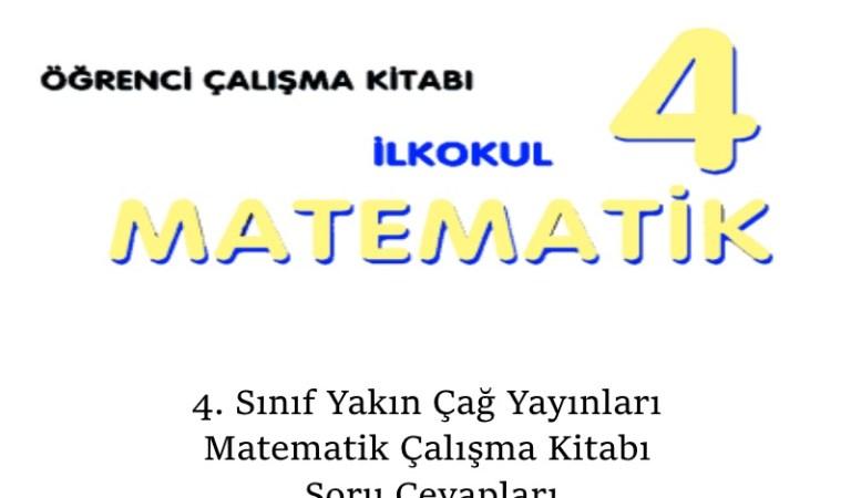 4. Sınıf Yakın Çağ Yayınları Matematik Çalışma Kitabı Soru Cevapları Sayfa 60