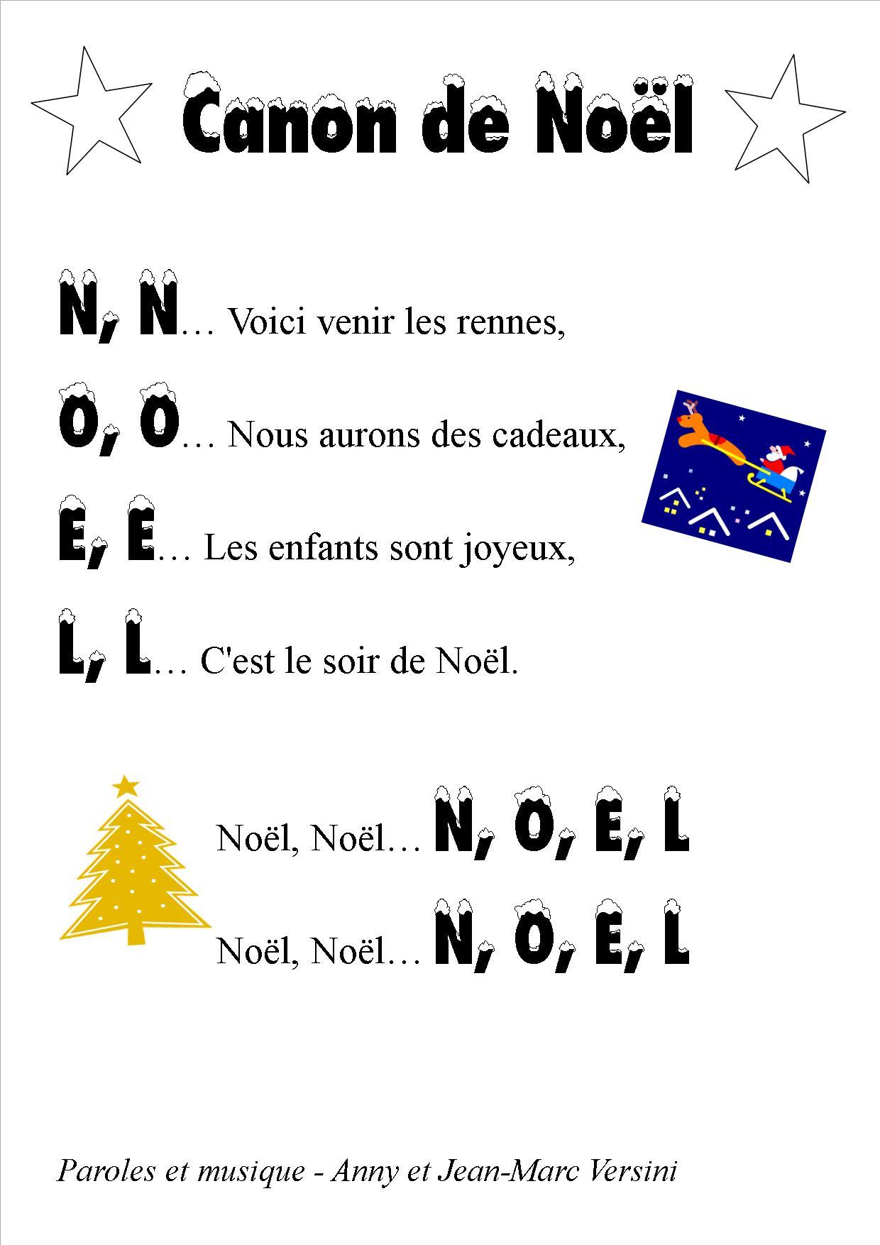 Comptine De Noel Pour Tout Petit : comptine, petit, Chanson, Canon, Maternelle