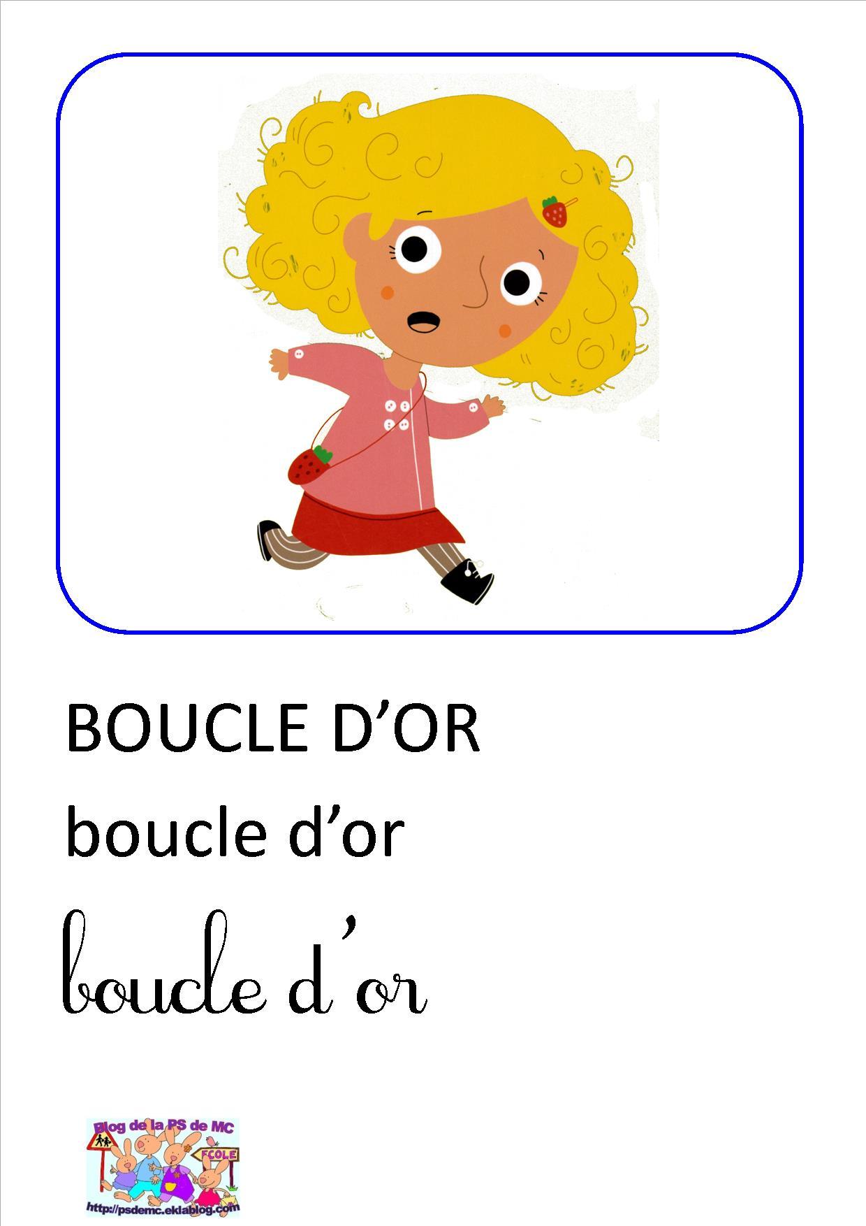 Histoire De Boucle D Or : histoire, boucle, Boucle, Imagier, Maternelle