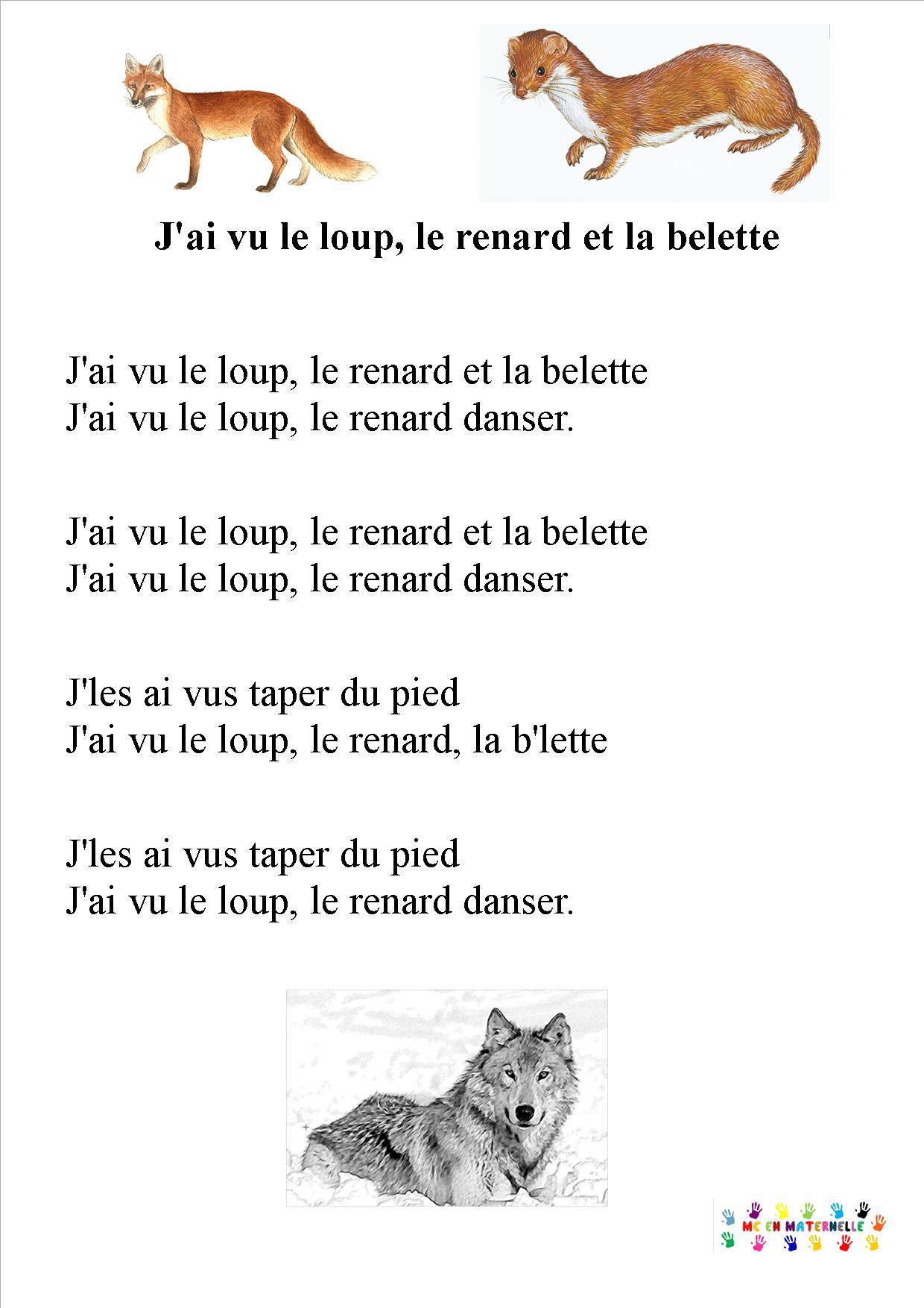 Le Loup Le Renard Et La Belette : renard, belette, Loup,, Renard, Belette, Maternelle