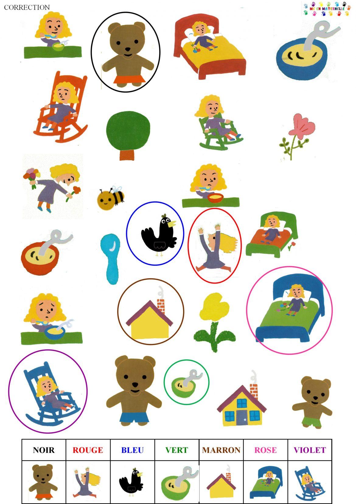 Boucle D'or Et Les Trois Ours Ps : boucle, trois, Autour, Boucle, Maternelle