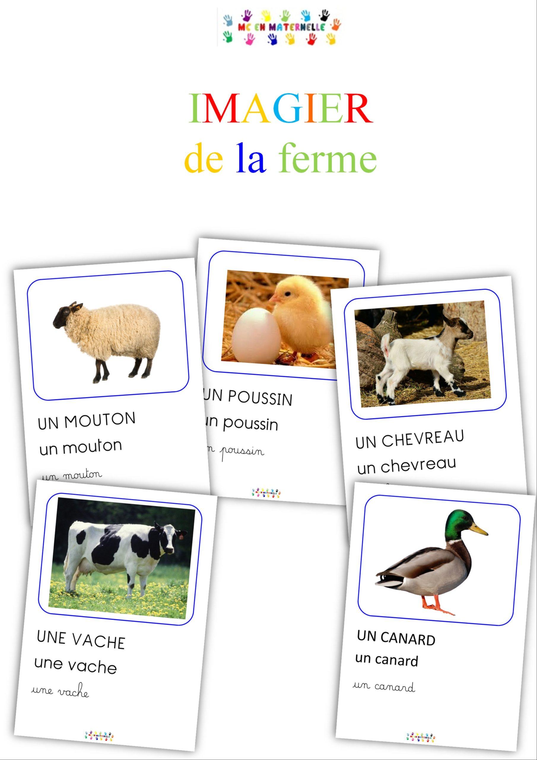 Imagier des animaux de la ferme - maternellepailletée