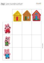 Les Trois Petit Cochons Art Visuel : trois, petit, cochons, visuel, Trois, Petits, Cochons, Tableau, Double, Entrée, Maternelle