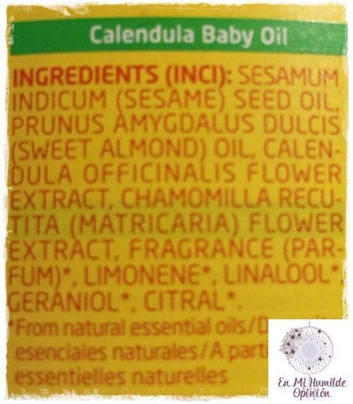 Aceite de caléndula para bebé de Weleda