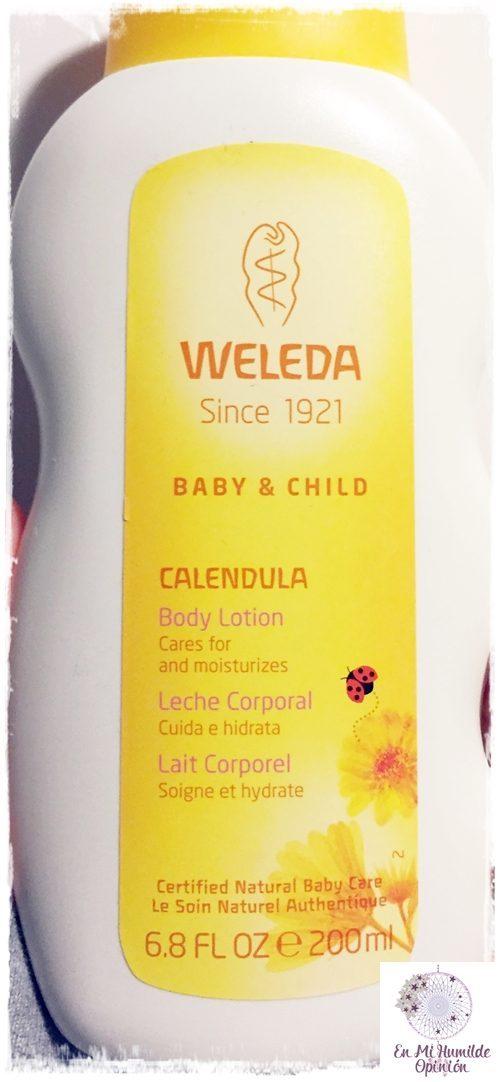 Leche Corporal de Caléndula para bebé de Weleda