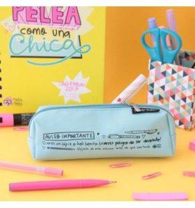 Estuche azul para lápices y bolis bonitos Pedrita Parker