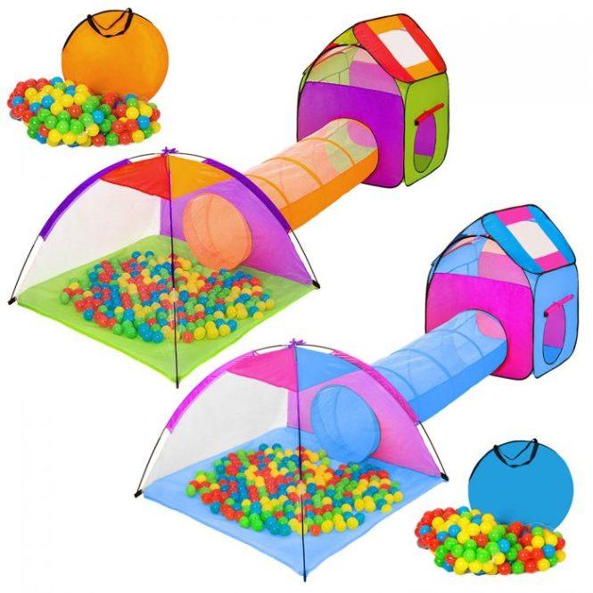 Tienda infantil en forma de iglú con túnel + 200 bolas