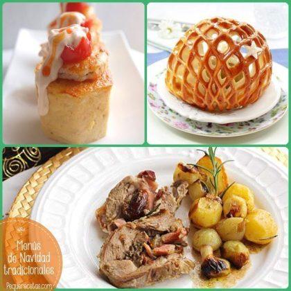 Menús con recetas de Navidad tradicionales