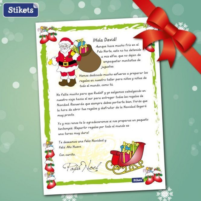 Cartas navideñas Stikets