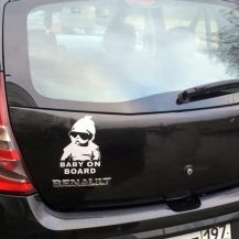 Pegatina baby on board refrectante