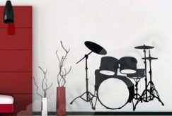 Vinilo decorativo musical batería