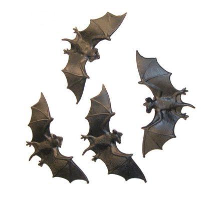 Bolsa de 4 Murciélagos de 11cm para Halloween