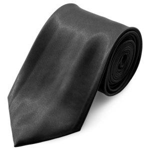 Corbata básica negro brillante 8 cm