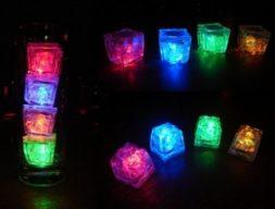 Cubitos de hielo fluorescentes