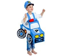 Disfraz de Coche Policía Infantil en talla única