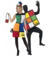 Disfraz de pareja de Cubo de Rubik