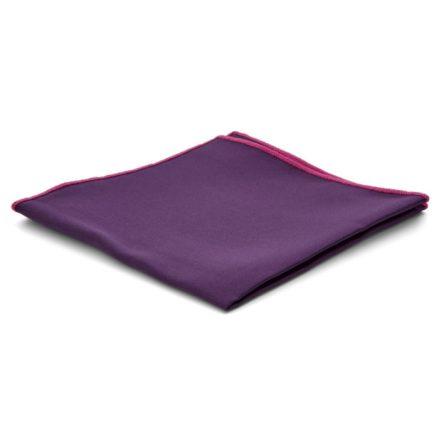 Pañuelo de bolsillo básico morado berenjena