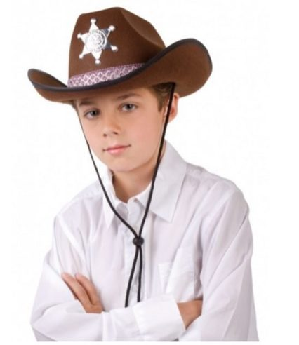 Sombrero marrón de sheriff para niño