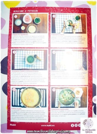 Pasta al pesto de rúcula Kukit