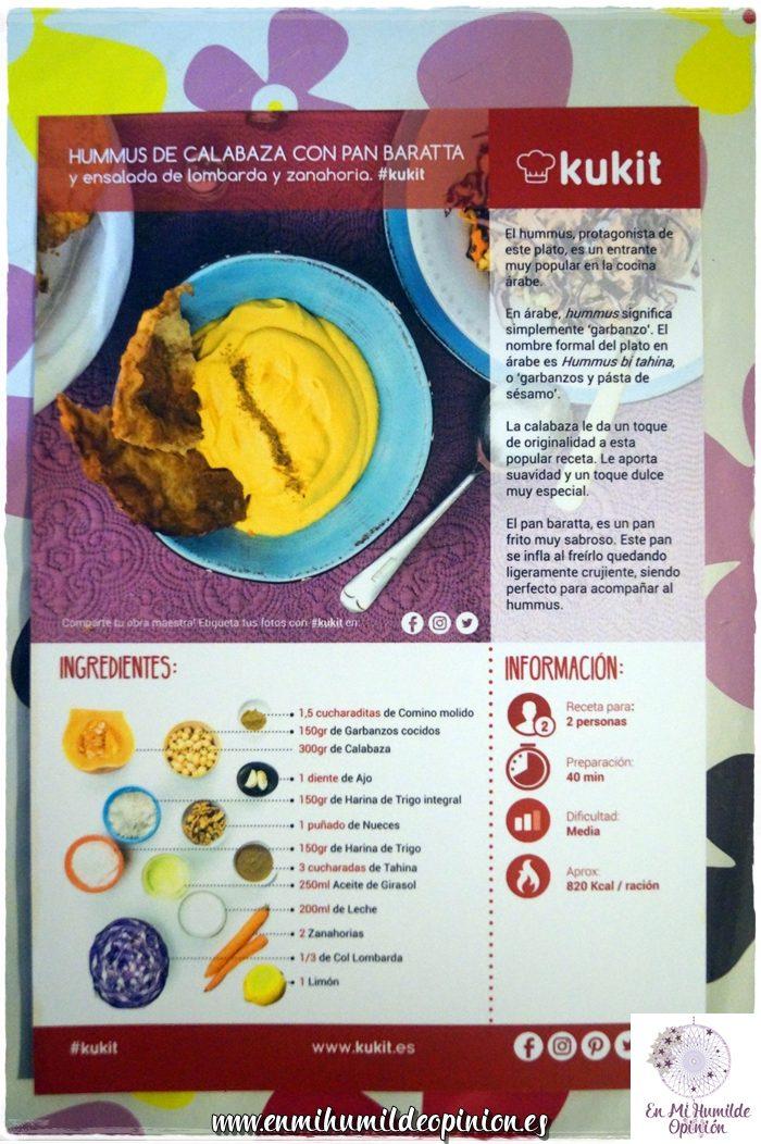Hummus de calabaza con pan Baratta Kukit